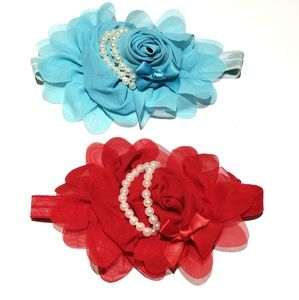 Other - BABY INFANT BOUTIQUE HAIRBOW HEADBANDS LOT OF 2